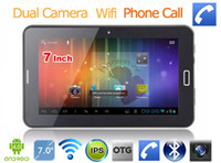 Wholesale Hot sale quot Android Allwinner A13 g phone call g GB dual camera with sim card slot tablet pc Bluetooth