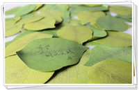 Wholesale 2pcs Artificial leaves notes paper sticky n times stickers Memo Pad note pad