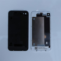 Wholesale 200 Back Glass Battery Housing Door Cover Replacement Part GSM for iphone S Black White Color