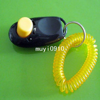 Wholesale Black Pet Dog Clicker Trainer Training Aid Wrist Strap