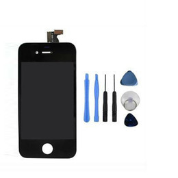 For iPhone 4 CDMA Black Display LCD With Touch Screen Digitizer Replacement & Frame Cover & Open Tools & Freeshipping