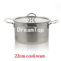 Wholesale German Style Stainless Steel Cookware cm Cooking Pot Induction Bottom Glass Cover