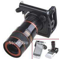 Wholesale Universal x F1 Zoom Optical Digital Camera Telescope Monocular with Adjusted Holder for Mobile Phones HBC
