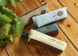 Coréen papeterie notes de l'industrie rétro grande crayon crayon sac de toile pochette de maquillage papeterie bureau étudiant créatif à partir de note crayon fabricateur