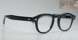 Retro Vintage Johnny Depp Eyeglasses Black Eyewear Frame with Clear Lens