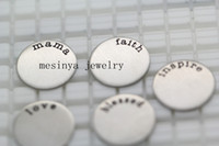 Wholesale 50pcs stainless steel assorted medium blessed mom faith family love plate for mm floating charm glass locket