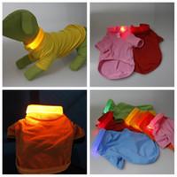 Wholesale Supplies New Pet Dogs Clothes LED POLO Cotton Jacket T Shirt Dog Clothing Size XS S M L