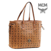 Wholesale Cheap Yellowish Brown Vintage Bags for Women Affordable Printed MCM bags with PU Leather New Arrival Women Designer Tote bags