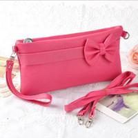Wholesale Fashion Women Bow Clutch Purse Evening Chain Wallet Handbag Shoulder Messenger Bags