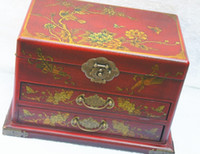 Wholesale Imitation antique dresser maroon wood two drawers