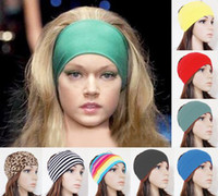 Wholesale 10PX quot women Colored wide yoga elastic headband stretch hairband elastic hair bands turban