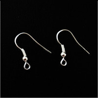 Wholesale 500X Silver Plated Earring Fish Hooks DIY Jewelry Findings hand craft parts