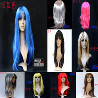 Wholesale WIG Red Green Wigs Anime Clown Cosplay Party Synthetic Doll Vogue Long Deep Natural Loose Body Wave Curly Straight Mix Texture