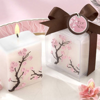 April Fool's Day Event & Party Supplies Yes Cherry Blossom candle 10PCS LOT+wedding Baby shower favors gifts party decoration+ Free shipping