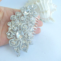 Wholesale Wedding Bridal Hair Accessories Flower Hair Comb Rhinestone Crystals FSE05093C1
