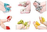 baby foot flower - BX97 pair Toddler Baby Barefoot Socks Sandals Shoes Children Rose Foot Ornaments Infant Flower Socks