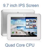 Ips tableta al por mayor Baratos-Venta por mayor - DHL Freeshipping 9.7 pulgadas HD IPS pantalla Quad-Core A31S Tablet Android 4.1 Allwinner A31S 1,2 Ghz 1GB / 8GB doble cámara HDMI AMPE