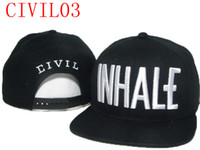 Wholesale best sales Civil black snapback hats tiptop streetwear snapbacks caps snap back hat fashion cap