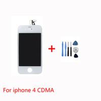 Bonne qualité pour écran LCD iPhone 4 CDMA blanc tactile Digitizer Cadre de remplacement Capot ouvert Outils Freeshipping