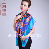 Yarn Dyed Square Woven Luxury Boxing Silk Large Square 110*110CM Baroque Facecloth Satin 100% Mulberry Silk Scarf Female High Grade Gift Box Packing
