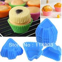 Wholesale 20pcs Spade Shape Versatile Mini Silicone Molds Cupcake Egg Sushi Makers Personalized Kitchen Aid Assorted Color