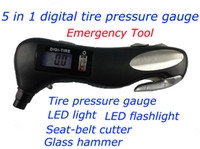 Wholesale 5 in Digital Taire Pressure Gauge Multifunctional tire pressure gauge