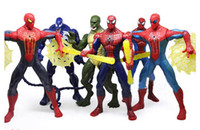 Wholesale 18cm New Movie Version Figures The Amazing Spider Man Toy Spiderman Venom Toys set of