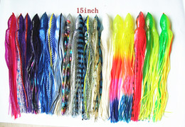 Wholesale 15inch Big Octopus Skirt Bait Fishing Tackle Fishing Lure worms Bait Salt Water Lure Big Game Lure Sea Trolling Lure Tuna Lure Skirt Bait