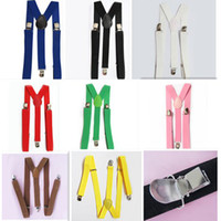 Wholesale Unisex Clip on Braces Elastic Y back Suspenders belt Black red yellow blue white hot pink green orange p WY25