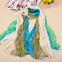 Wholesale 10pcs Womens Mix Color Scaft Flower Floral Large Long Stole Scarf Shawl Wrap by freeship