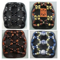 Wholesale 4 Ez Stretchy Wooden wood Beads Double Magic Women Fashion Mixed Hair Clip Comb WA1