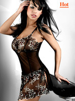 Wholesale 2013 Hot Sexy Lingerie Babydolls Lace Lingeries Chemises Sleep Wear Pajamas for women Bandage Dress Plus Size Nightwear underwear Babydoll