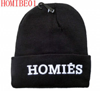 Wholesale best quality men Homies beanie black color fashion knit beanies snapback hats caps streetwear hat cap