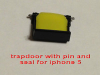 Dock Plugs   Replacement trapdoor with pin and seal for iphone 5 4 4s waterproof case