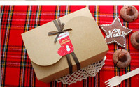 Wholesale New x10 x8 cm Kraft paper Party Cake packaging Boxes Food Cookie Cases