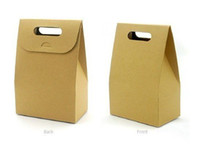 Wholesale Handle kraft Paper Cookie Boxes Cake Liners Cupcake Liners Cake Bags