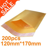 Wholesale Yellow Brown Kraft Bubble Mailers Padded Envelopes Bags x170mm DHL