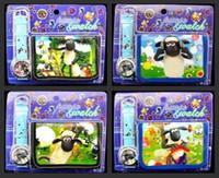 Unisex bear cartoon characters - 50sets Mixed Cartoon Boy Girl Kids Watch Wallet Set Bag Wrestler Superheros Birds Fairy Bear Strawberry Children Wristwatch Christmas Gift