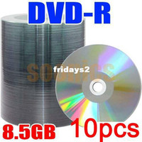 Wholesale 10pcs G Blank Discs Recordable Printable DL DVD R DVD R DVDR Disc Disk GB amp Drop Shipping