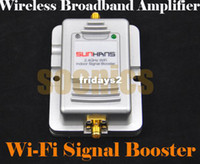 Wholesale 2W Wifi Wireless Broadband Amplifier Router Ghz Power Range Signal Booster amp Drop Shipping