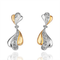 Bohemian Women's Easter nice yellow crystal white gold rare lady s earrings