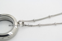 ball welding - 25pcs floating charm glass locket welding ball station necklace in L stainless steel