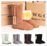 Wholesale High quality classic WGG Brand women s popular Australia snow boots real fur winter shoes