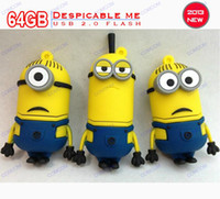 Wholesale 64GB Despicable me Despicableme usb flash drive D Cartoon usb flash drive new gift memory card memory card fun fun H046Z