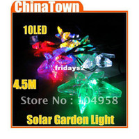 Wholesale 4 M LED Solar Powered String Fairy Star Light for Christmas Party Decoration Drop Shipping
