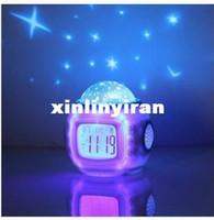Wholesale 1Pcs New Music Starry Sky Projection Calendar Alarm Clock