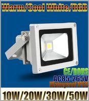 Wholesale led flood light W LED Flood Light IP65 Waterproof V high power W W W W outdoor RGB Changeable Floodlight Lamp