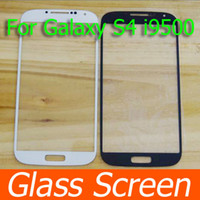 Wholesale Screen Tempered Glass Lens - LCD Screen Front Lens Glass Cover For Samsung Galaxy S4 S IV i9500 Tempered Glass Outer LCD Screen Lens