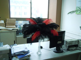Wholesale 12-14inch(30-35cm) Red and Black ostrich feathers for Wedding centerpiece party supply Decor wedding decor