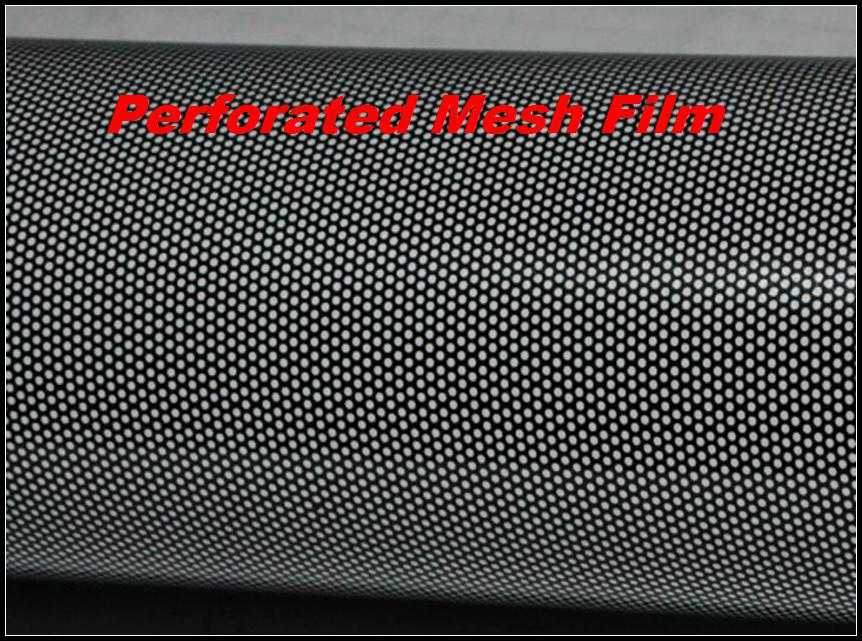 2017 Legal Headlight Tint Perforated Mesh Film Like Fly